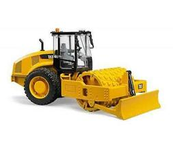 Bruder #02451 CAT Vibratory Soil Compactor with Leveling Bla
