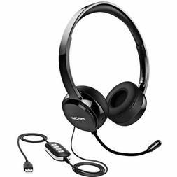 Mpow 071 USB Headset w/ 3.5mm Jack Computer Wired Headphones