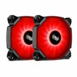 1/2pcs Blue/Green/Red darkFlash DUAL BLADE LED Case Fan 120m