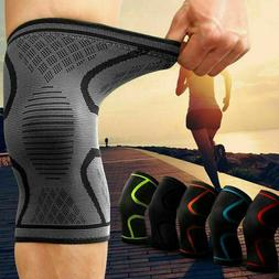 1 Pair Knee Sleeve Compression Brace Support Sport Joint Pai