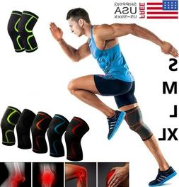 1PC Knee Sleeve Compression Brace Support For Sport Joint Pa