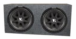 """2 Kicker 10"""" 43C104 600W Car Subwoofers Comp Subs + Sealed S"""