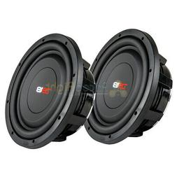 """2 10"""" Shallow Subwoofers 1000 Watts 4 Ohm Slim Sub Compact D"""