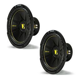 """Kicker 44CWCD124 Comp C Car Audio Subwoofer Dual 4 Ohm 12"""""""