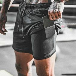 2 in 1 Secure Pocket Shorts Double Layer With Pocket COMPRES