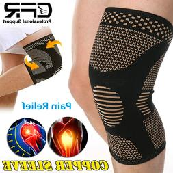 Knee Sleeves Compression Brace Support Sport Joint Injury Pa