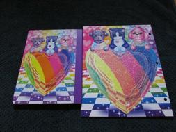2 pc lot Lisa Frank PUPPY LOVE Sparkle Glitter Folder & Comp