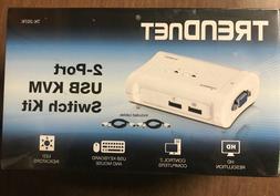 TRENDnet 2 Port USB KVM Switch TK-207K, Run 2 Computers on 1