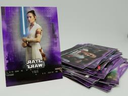 2019 Topps Star Wars Rise of Skywalker S1 Purple Singles U P