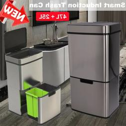 2Layer Intelligent Trash Bin Recycle Can Stainless Steel 3 C