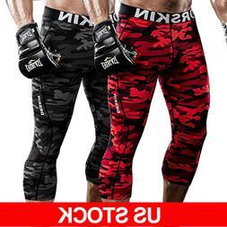 DRSKIN 3/4 Mens Compression Pants Base Layer Sports Leggings