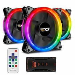 Aigo 3-5Pack Aurora DR12 Pro RGB LED 120mm Gaming Computer P