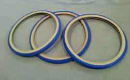 3 NEW DURO 24X1.75 TRICYCLE TIRES BLUE  GUMWALL  50 PSI,COMP