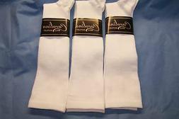 3 pr Men's White Graduated Compression Socks..Sz..XL 13-15