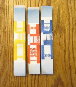 300 SELF SEALING CURRENCY STRAPS  MONEY BILL BANDS STRAP PMC