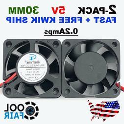 30mm 5V Cooling Fan DC 3010 30x30x10mm PC Computer Cooler 3D