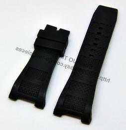 30mm black rubber watch band strap comp