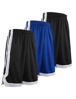 3x Lot TopTie Mens Basketball Shorts with Pockets Moisture W