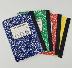 4 Composition Books wide Ruled Paper Notebook 80 Sheets Each