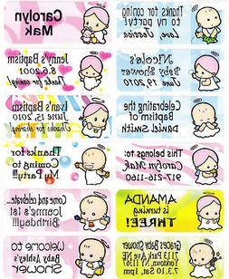 40 BABY Custom Waterproof Name Labels-SCHOOL,CAMP