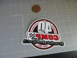 40 YEARS COMP Sticker / Decal  Automotive ORIGINAL OLD STOCK