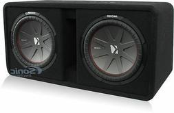 """Kicker 43DCWR122 COMPR12 2000W 12"""" Car Audio Subwoofers+Vent"""