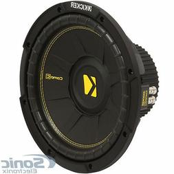 "KICKER 44CWCD124 CompC 12"" 600 Watt Dual 4-Ohm Car Audio Sub"