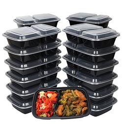 {50 PACK} 50 Meal Prep Containers for meal prepping 2 Compar