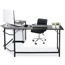 """51"""" Modern L-Shaped Computer Desk Large Workstation PC Stand"""