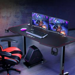 55 inch Computer Desk Gaming Table Racing Style Home Office
