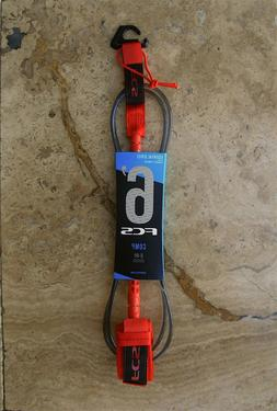 6 essential series comp surfboard leash red