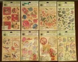 8 Packs K&Company Stickers, Rub-Ons Susan Winget Dimensional
