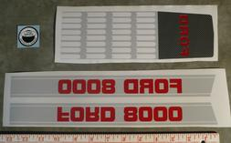8000 Ford Pedal Tractor DECAL SET Ertl Toy FREE Ship Compute