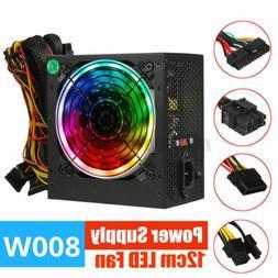 800W ATX LED Fan Computer Desktop Power Supply Quie PSU PFC