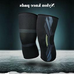 A Pair Sport Sleeve Knee Support Brace Knee Pads Basketball