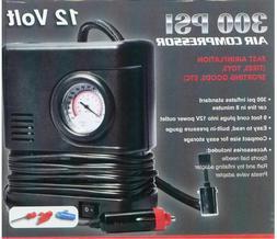 Air Compressor Portable Pump 300 PSI Auto Car SUV Tire 12V v