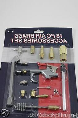 18PC Air Tool Quick Connect Brass Air Compressor Hose Access