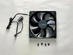 APEVIA Black Computer Fan - Model: CF12S-BK