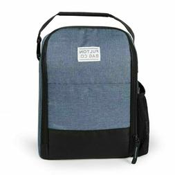 Fulton Bag Co. Blue Denim Insulated Lunch Tote Bag 2 Compart