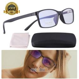 Blue Light Blocking Computer Glasses UV400 Anti Eyestrain Ra