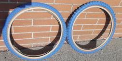 Blue skinwall Comp III 20x1.75/2.125 pair fits GT JMC old sc