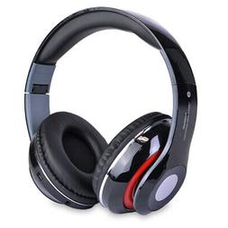 Bluetooth Wireless Headphones with Built In FM Tuner, Memory