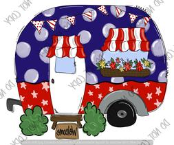 Camping Flag 4th of July ~ Customize ~ Sublimation Transfer