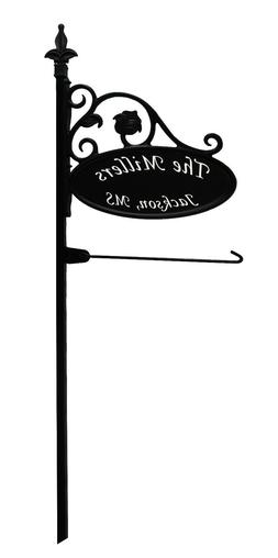 Camping/RV Custom Made Park Place Sign w/  Garden Flag Post