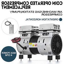 Coin Operated Compressor Air Machine Gas / Pump Horizontal O