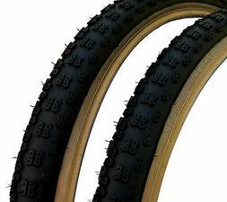 """Kenda Comp 3 III old school BMX skinwall gumwall tires 26"""" X"""