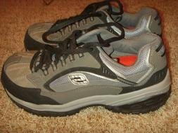SKECHERS COMP TOE WORK SHOES IN BLK/GRY 76893 Mens Size 8