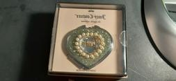 Juicy Couture Compact Mirror Gold Glitter and Faux Pearls -