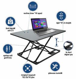 Conquer Compact Standing Desk Height AdjustableTabletop Sit