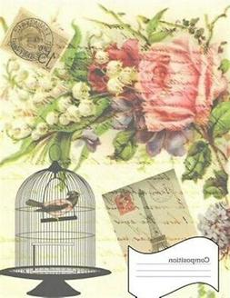 Composition: Vintage Notebook Birdcage, Shabby Chic Comp Boo